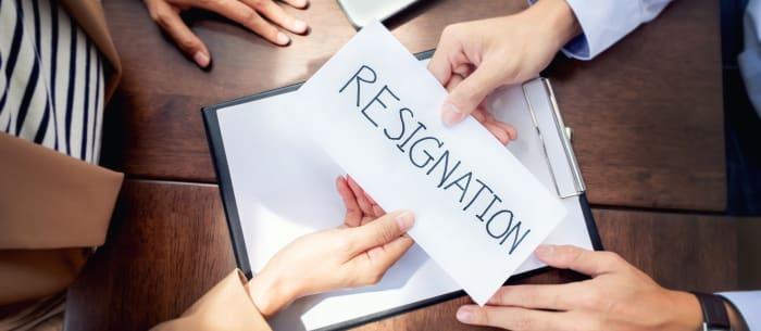 resignation to avoid a disciplinary hearing