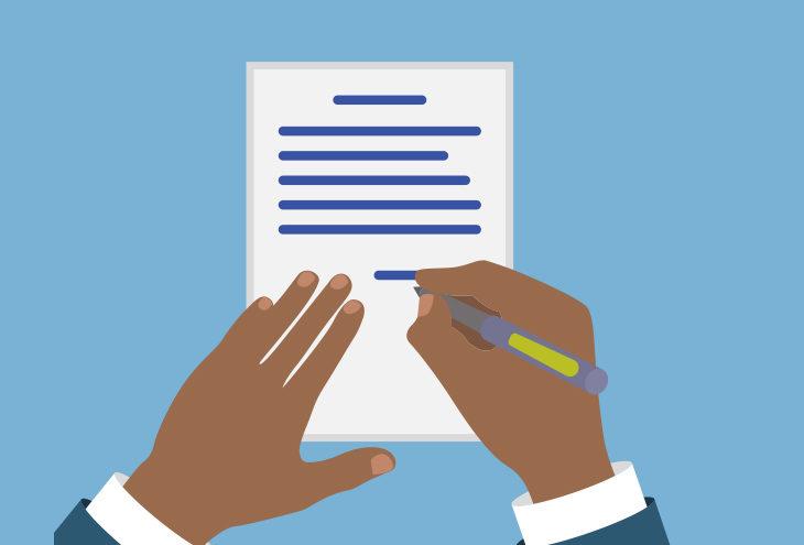 disciplinary hearing through written representations